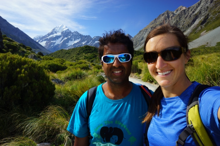 Tramping around New Zealand with Alison